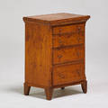 Traditional miniature chest of drawers 19th c softwood 23 x 17 x 11