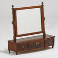 Federal dressing mirror with three drawers usa 19th c mahogany glass 23 x 18 x 5 14