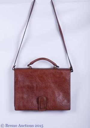 Barantani Italian Leather Messenger Bag