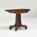 Empire card table on casters usa 19th c mahogany brass 29 34 x 36 12 x 18