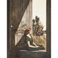 Andrew wyeth american19172009 portfolio of ten color collotypes ten color reproductions of paintings by andrew wyeth 1956 printer triton press nyc each 26 x 20 sheet