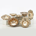 American art nouveau sterling holloware seven embossed vessels unger brothers center bowl with poppies 7255 9 12 whiting bead bowl with clematis 12 x 8 34 etc 398 ot