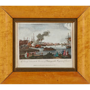 Two engravings of french cities 19th c the port of marseilles and the port of nantz both framed one published by royal authority one published by ccooke each 6 x 7 12 sight