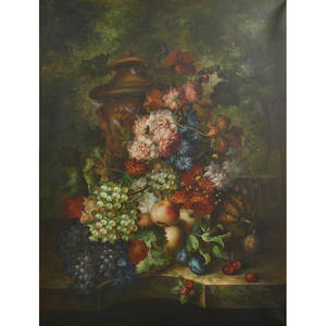 Dutch still life style 20th c oil on canvas of still life framed signed d bersani 48 x 36