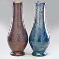 Roseville two 19 pauleo vases one with drilled base zanesville oh 1914 unmarked