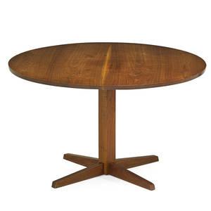 george nakashima 1905  1990 nakashima studios pedestal dining table new hope pa 1985 walnut signed and dated george nakashima dec 6th 1985 28 12 x 48 dia