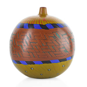 Yoichi ohira b 1946 polvere vase murano 1998 blown glass canes murrine and powder inserts executed by maestro livio serena etched yoichi ohira  mo l serena 11 unico 15041998 murano wit
