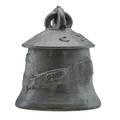 Robert turner 1913  2005 ashanti reductionfired stoneware lidded vessel gunmetal and verdigris glaze alfred ny signed 11 14 x 9 14