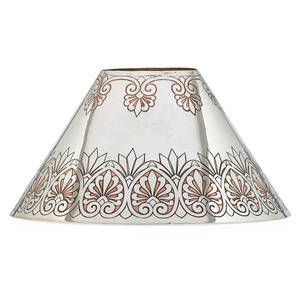 Tiffany  co fine lamp shade new york 190207 copperpatinated sterling silver stamped tiffany  co makers sterling silver c 6 x 11