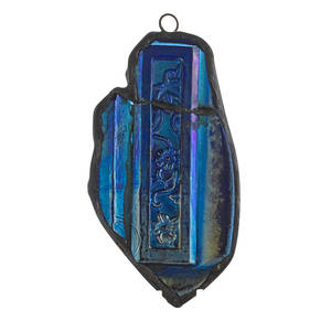 Tiffany studios blue favrile glass mezuzah new york 1900s unmarked 5 x 2 12 provenance descended from original owner a tiffany studios employee