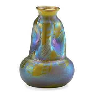 Loetz fine phnomen vase austria ca 1900 unmarked 5 14 x 3 12