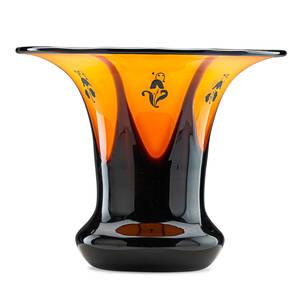 Dagobert peche attr 1887  1923 loetz tango glass vase austria ca 1900 unmarked 5 x 6 14