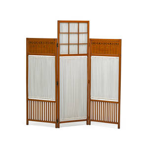 English art nouveau dressing screen ca 1900 satinwood rosewood maple unmarked 60 x 59 12 x 1 provenance copy of invoice from liberty  co 1984