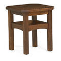 L  jg stickley clipcorner tabouret fayetteville ny ca 1910 the work of decal 18 x 16 sq