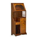 Louis majorelle 1859  1926 cabinet france ca 1895 mahogany fruitwood glass brass signed l majorelle in the marquetry 57 12 x 25 12 x 14 14