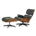 Charles eames 1907  1978 ray eames 1912  1988 herman miller lounge chair and ottoman no 670 and 671 zeeland mi 1980s cherry leather enameled aluminum enameled steel rubber foil la