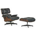 Charles eames 1907  1978 ray eames 1912  1988 herman miller lounge chair and ottoman no 670 and 671 zeeland mi 1950s rosewood leather enameled aluminum enameled steel rubber remna