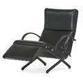 Osvaldo borsani 1911  1985 tecno adjustable lounge chair p40 italy 1970s enameled steel brass leather rubber manufacturer labels as shown 33 12 x 52 x 28