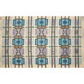 Swedish hand woven wool carpet 1960s signed in the weave cc 45 x 69