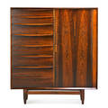 Falster cabinet denmark 1960s rosewood birch manufacturer label 54 x 48 x 19