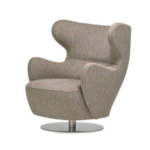 Vladimir kagan b 1927 vladimir kagan couture wing chair new york 2000s chromed steel upholstery metal label 35 x 31 12 x 33