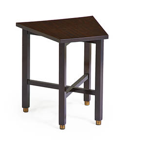 Edward wormley dunbar side table berne in 1960s mahogany laminated wood brass brass label 22 14 x 19 x 20