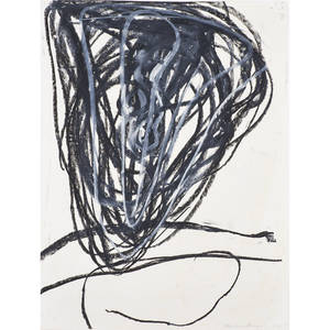 Melissa meyer american b 1947 oilstick on paper untitled 1987 framed signed and dated 30 12 x 22 sheet