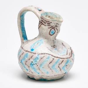 Guido gambone small glazed earthenware pitcher italy ca 1960 signed gambone italy with donkey mark 5 x 5