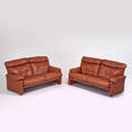 Tobia scarpa bb italia two cornado sofas italy 1960s leather plastic manufacturers labels 32 x 69 x 38