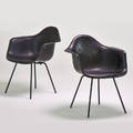 Charles and ray eames herman miller pair of shell armchairs zeeland mi 1950s plasticreinforced fiberglass chromed steel unmarked 31 x 25 x 24