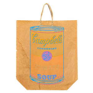 Andy warhol american 19281987 screenprint in colors on paper shopping bag campbells soup can on shopping bag 1967 from an unknown edition 19 12 x 17
