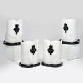 Italian set of four alabaster and marble table lamps 1950s all marked 1581342 made in italy each 9 34 x 7 x 5 12