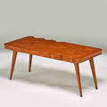 Style of jean royere coffee table france 1920s oak sycamore unmarked 19 x 43 12 x 22
