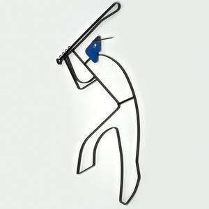Frederick weinberg enameled wroughtiron wall sculpture of a baseball player usa 1950s unmarked 37 12 x 24 x 34