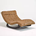 Adrian pearsall craft associates doublewide rocking chaise lounge wilkes barre pa 1960s bronze composite and upholstery unmarked 30 x 58 x 36