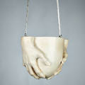 Richard etts cast plaster hanging planter usa 1971 signed dated and copyrighted 9 x 14