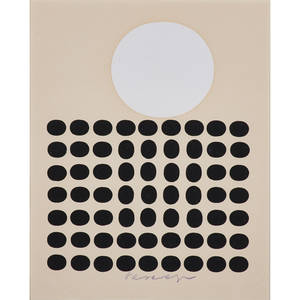 Victor vasarely hungarian 19061997 two screenprints both framed each signed larger 10 x 9 sight