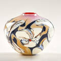 George thiewes handblown glass form usa 1978 signed and dated 5 12 x 6 12 dia