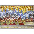Vladislav ratner russian b 1926 untitled industrial landscape oil on canvas framed 51 14 x 78 34