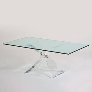 Lioninfrost dining table ft lauderdale fl 1970s acrylic chromed steel glass signed 29 x 72 x 42