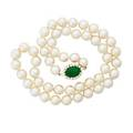Pearl and jadeite necklace trio pearl co ltd