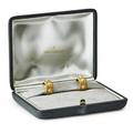 Buccellati 18k gold diamond classica hoop earrings