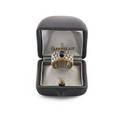 Buccellati sapphire diamond bicolor 18k gold band