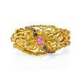 Zolotas 18k yellow gold  gemset octopus bracelet
