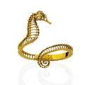 18k yellow gold seahorse bracelet