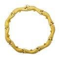 18k yellow gold circling fish collar necklace