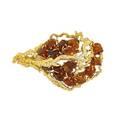 Andrew grima rough citrine and diamond 18k brooch