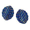 David webb blue enameled 18k gold earrings