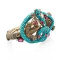 Jeweled serpent and branch bracelet