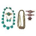 Victorian turquoise pave or garnet pave jewelry